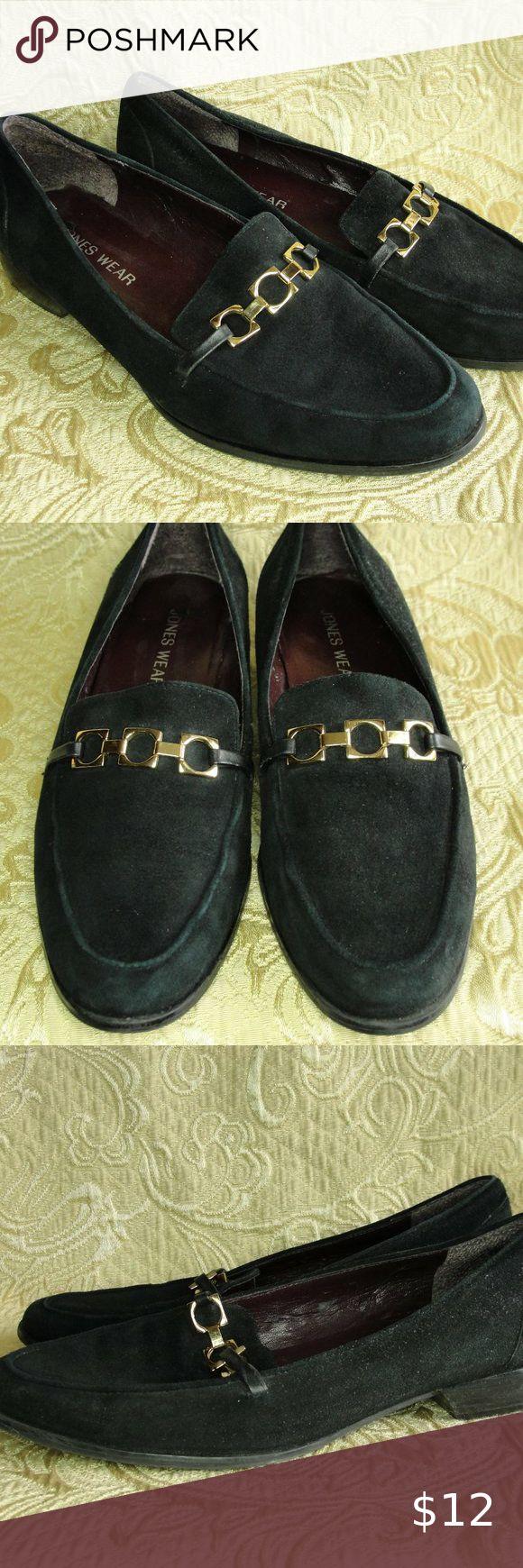 3 for 10...Jones Wear Suede Loafers Black VGUC in 2020