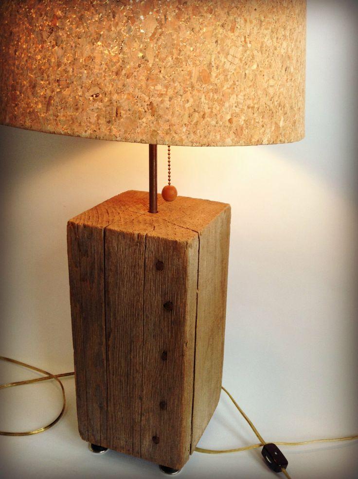 Art Deco Man Cave : Vintage lamp beach wood art deco lighting shabby chic