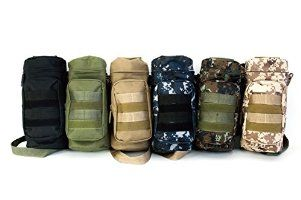 [IMPACK] Travel Water Bottle Pouch Holder Tactical Kettle Gear Molle Pack Carry Bag for Outdoor Activities RT1521 (BLK)