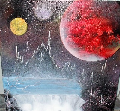 Red Planet - spray painting