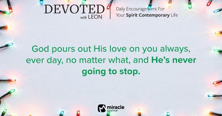 December 24 - Nothing Stops God's Love #MiracleChannel #Devoted #December
