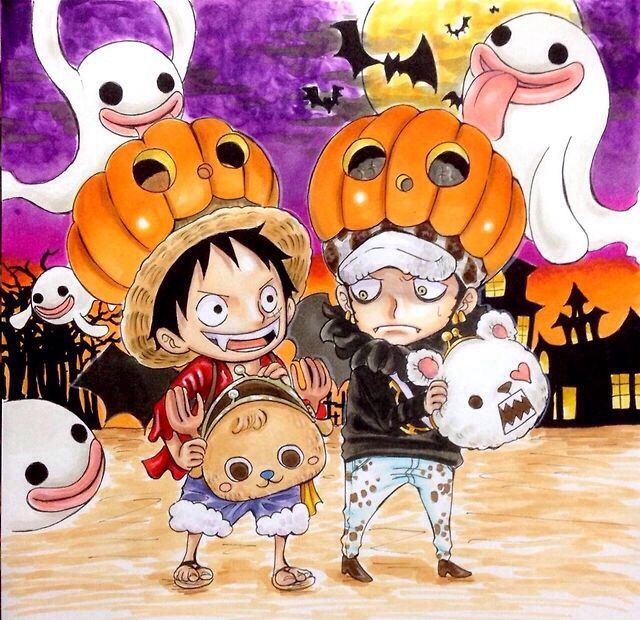 Happy Halloween Luffy and Law
