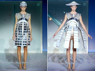 Love the creative high-tech fashion of Hussein Chalayan!