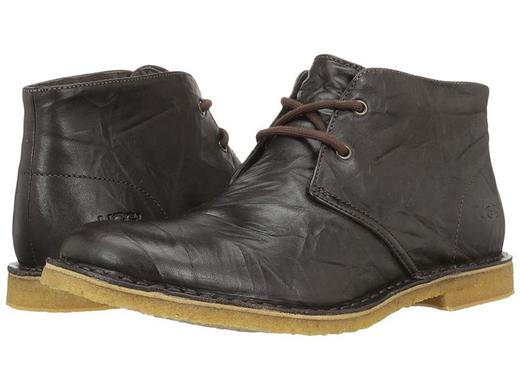 UGG Leighton Men's Dress Lace-up Boots Chocolate Leather