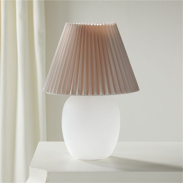 Shop Alluretable Lamp I Do Have A Little Bit Of A Shade Story Going On With The Lamps With Their Pleated Shades Say In 2020 Pleated Shade Lamp Table Lamp Lighting