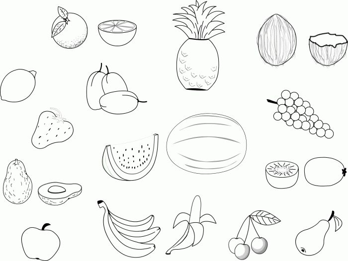 50 best coloring sheets images on Pinterest Drawings Food and Fruit
