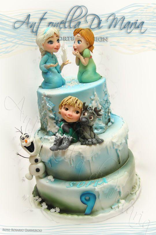 Cakesdecor Frozen Cake : Oltre 1000 immagini su Frozen Cakes su Pinterest Disney ...