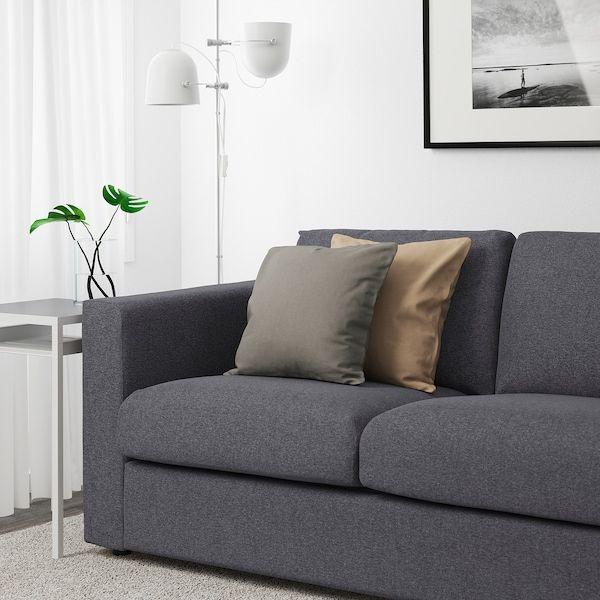 VIMLE Sofá 3 plazas, +extremo abiertoGunnared gris IKEA
