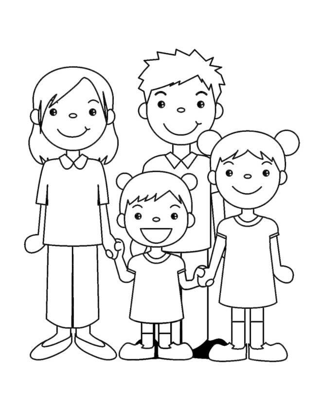 Disegno Famiglia Unita Disegni Da Colorare E Stampare Gratis Per