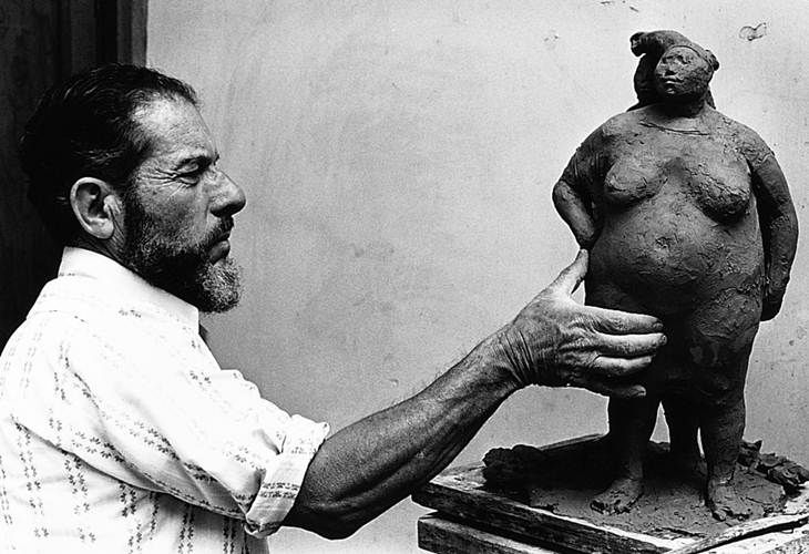 El Museo Nacional de Arte (Munal) ofrece un homenaje al escultor y pintor de origen costarricense, Francisco Zúñiga, para celebrar el centenario de su nacimiento.  Archivo / EL UNIVERSAL