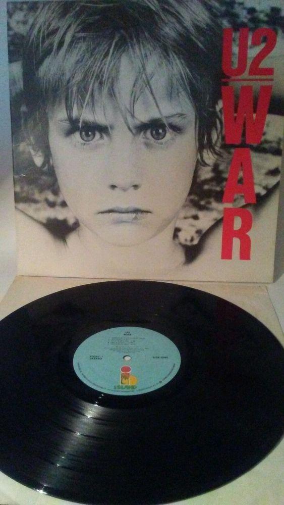 U2-War LP 1983 Island Records 7 90067-1 Rock Music Gatefold Cover EX/EX #Rock