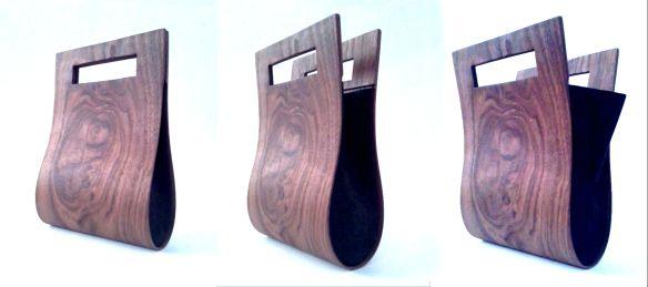 Bolso artesanal hecho de madera. Comparativa de precios de bolsos de madera.