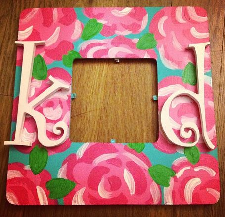 kappa delta diy frame idea make a frame for a picture with you and