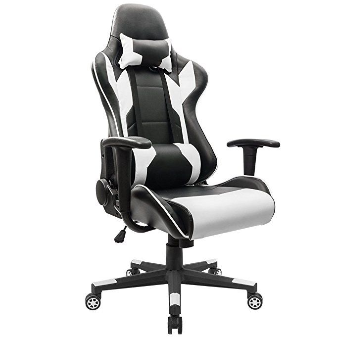 Homall Executive Swivel Leather Gaming Chair Racing Style High Back Office With Lumbar
