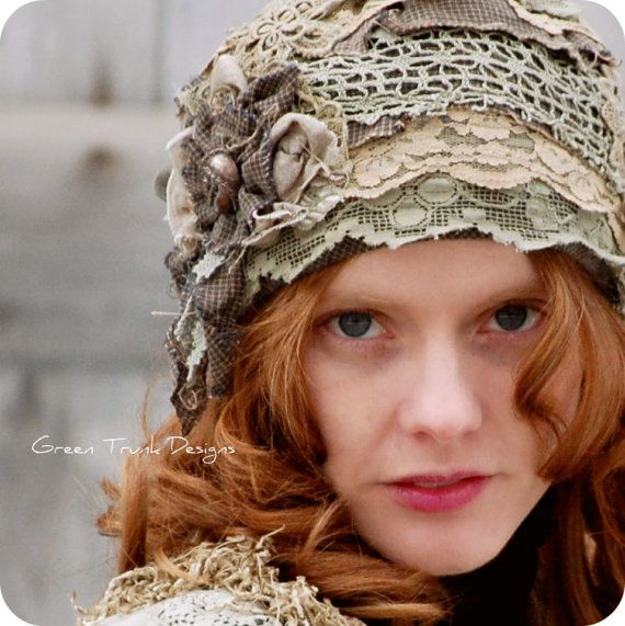 Love this handmade hat from Green Trunk Designs http://www.etsy.com/listing/91208828/forest-fairy-cloche-hat