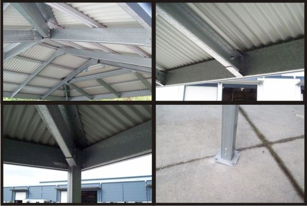 The Inside Steel Structure Of Our Dutch Gable Carport