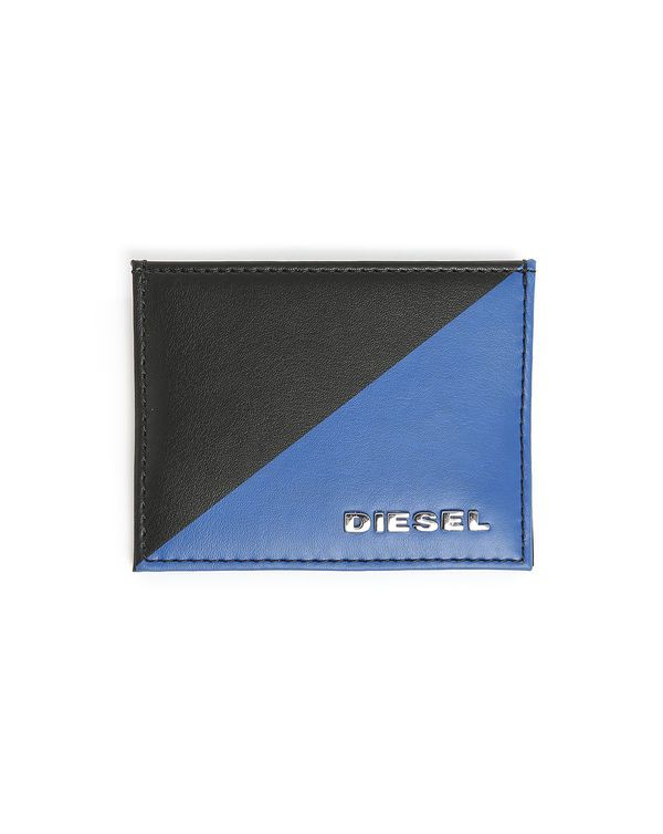 DIESEL, Two-Tone Black and Blue New Johnas Cardholder