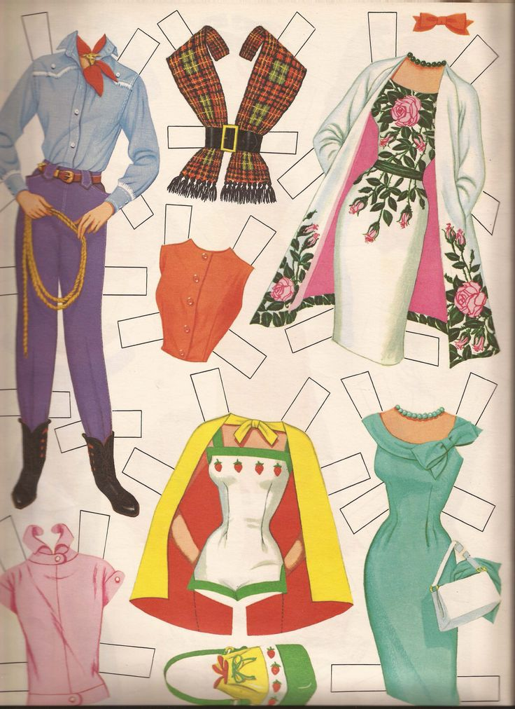 Barbie paper dolls | 1962 Barbie Paper Doll | carla-at-home