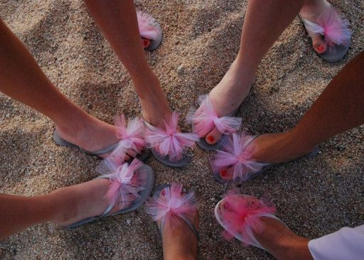 Custom WEDDING Flip Flops, BRIDESMAID Flip Flops, Simple & Elegant Tulle Flip Flops, Bridesmaid Gifts, Bridal Party Gift, Beach Weddings on Etsy, $13.74 CAD