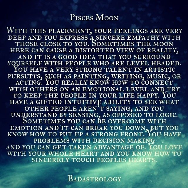 pisces moon.   #Zodiac #Astrology For related posts, please check out my FB page:  https://www.facebook.com/TheZodiacZone