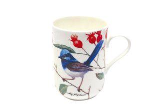 Maxwell & Williams. BIRDS OF AUSTRALIA by ERIC SHEPHERD. Mug 300ML Blue Wrens Gift Boxed RRP: $9.95