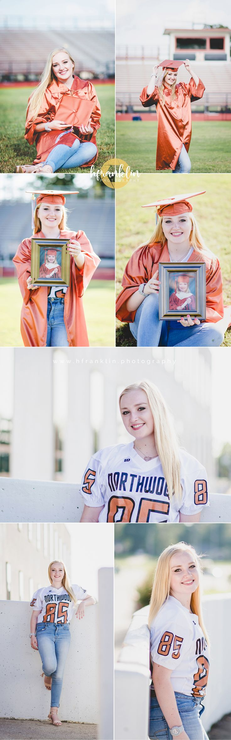 shreveport photographer, hfranklin photography, senior portraits, senior pictures, senior picture ideas, golden light, golden hour, summer senior pictures, summer vibe, senior picture outfit ideas for girls, cap and gown pictures, football jersey senior picture ideas, school picture ideas, graduation pictures, football field