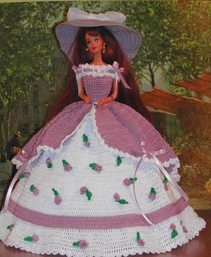 CROCHET FASHION DOLL PATTERN-#7 MISS CHARLESTON 2 #ICSORIGINALDESIGNS