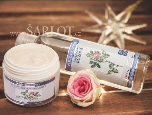 Přírodní kosmetika - pečující krém pro zralou a suchou pleť a luxusní pleťová voda, s mimořádnou péčí, harmonií a královskou vůní růže.