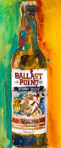 Sculpin IPA by Ballast Point Brewing Co. Beer Art by dfrdesign Especially like Habanero and Grapefruit Sculpins
