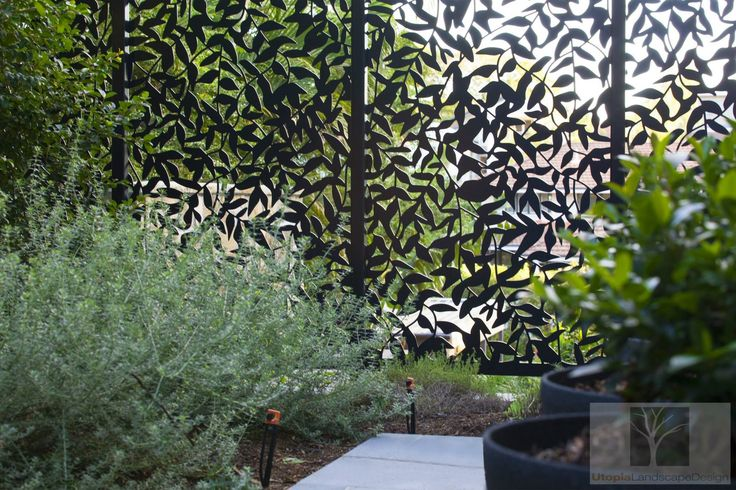 Outdoor Garden Screen Decorative Screens by Urban Metal