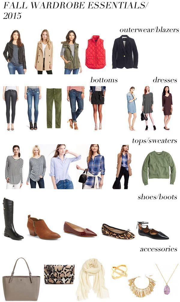 fall wardrobe essentials/2015