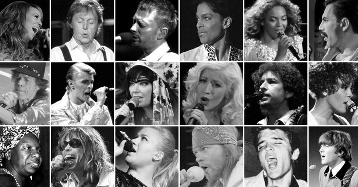 THE VOCAL RANGES OF THE WORLD'S GREATEST SINGERS