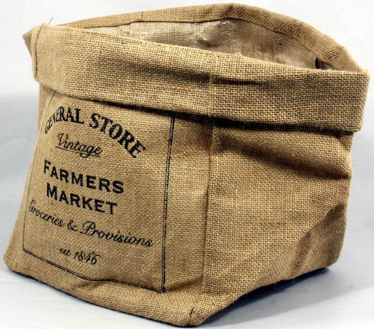 Jute Storage Bags Set Of 2 Vegetable Potato Onion Kitchen Sack Bag