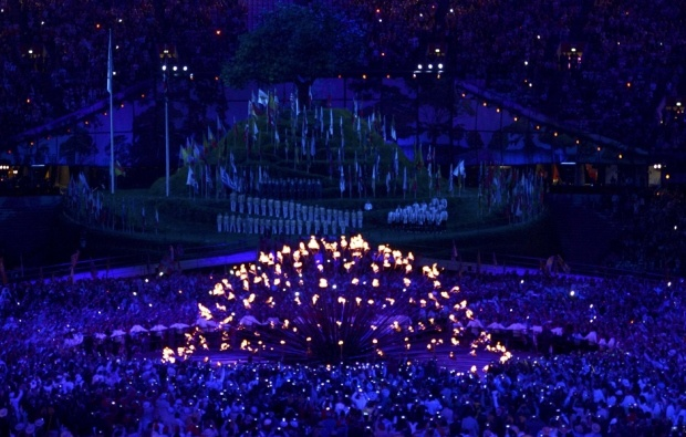 I loved the lighting of the Olympic flame in 2012. The cauldron is spectacular.