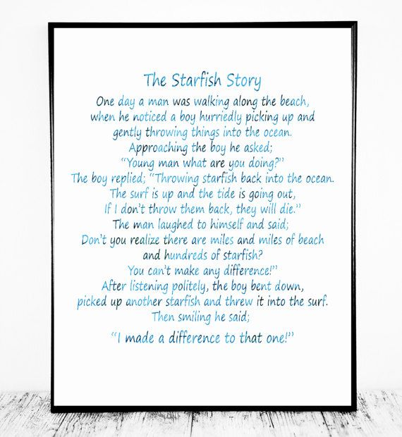 The Starfish Story The Starfish Poem  Loren by CristylClear