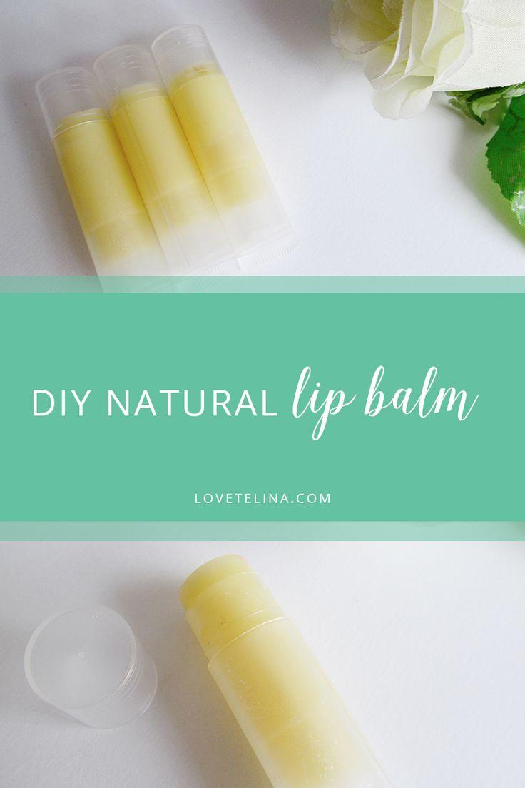 DIY Natural Lip Balm Tutorial   Only 3 ingredients!   Love, Telina