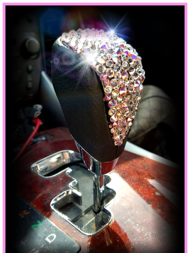 Universal Car Auto Accessory Bedazzled Super Bling Iced Out Genuine Swarovski Crystal AB Rhinestone Gear Shift Knob Custom Vehicle Girly by IcyLuxe on Etsy
