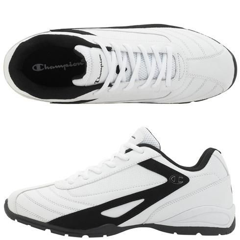 """This quality Champion sneaker features a durable faux leather upper with laces for a great fit, breathable mesh lining, padded collar, tongue and insole for comfort, and a lightweight,... More Details"