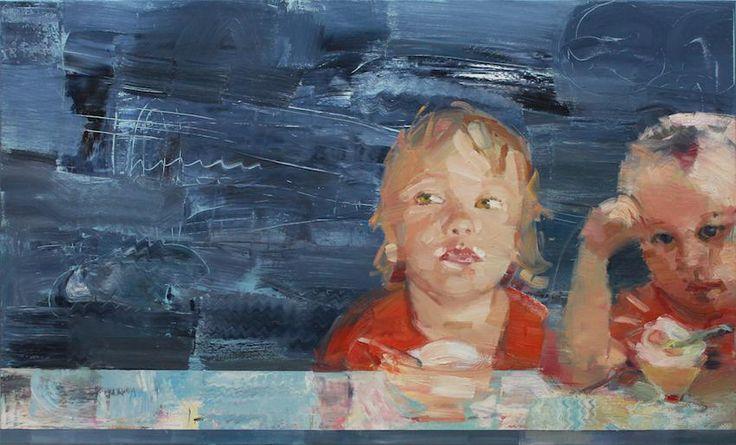 KINDER IM EISCAFE ÖL/Leinwand, 90x140 ДЕТИ В КАФЕ холст/масло 90х140  мастерская Viber/WhatsApp/Fon +49 179 101 98 82 +7 915 369 88 91 bella@chulkova.de  #arts#instaart#artwork#artsy#artcollective#arty#artoftheday#art_spotlight#artists#artgallery#modernart #artmaterie #izabellachulkova