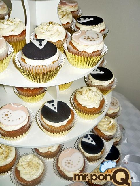 mr.ponQ cup-cakes nuestra primera boda
