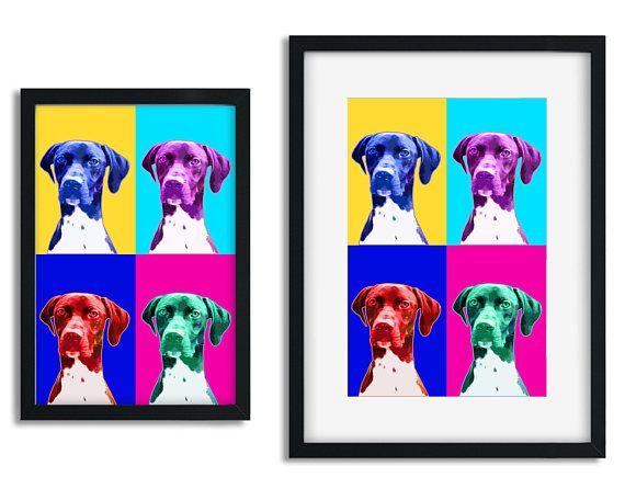 Custom dog Portrait Custom pet portrait Pop art dog portrait