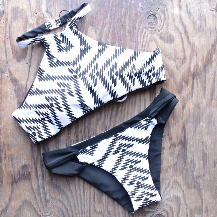 khongboon swimwear - furore reversible full-cut handmade bikini