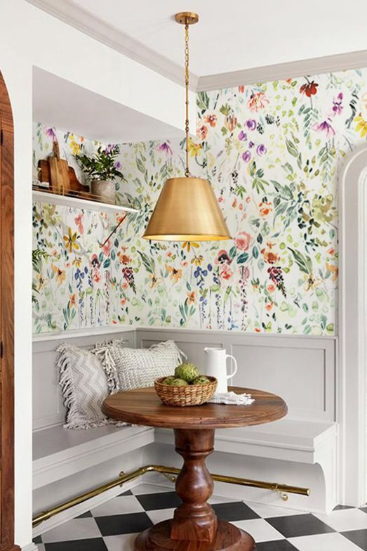 Kitchen Wallpaper to Spice up the Room Bright wallpaper Kitchen wallpaper Decor