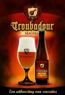 Troubadour Magma, Brouwerij The Musketeers, Ursel. 9% 8/10 Remarkable IPA triple from Belgium.  Amber red beer.