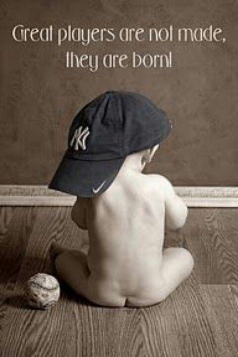baseball baby without that horrifying Yankees hat YUCK