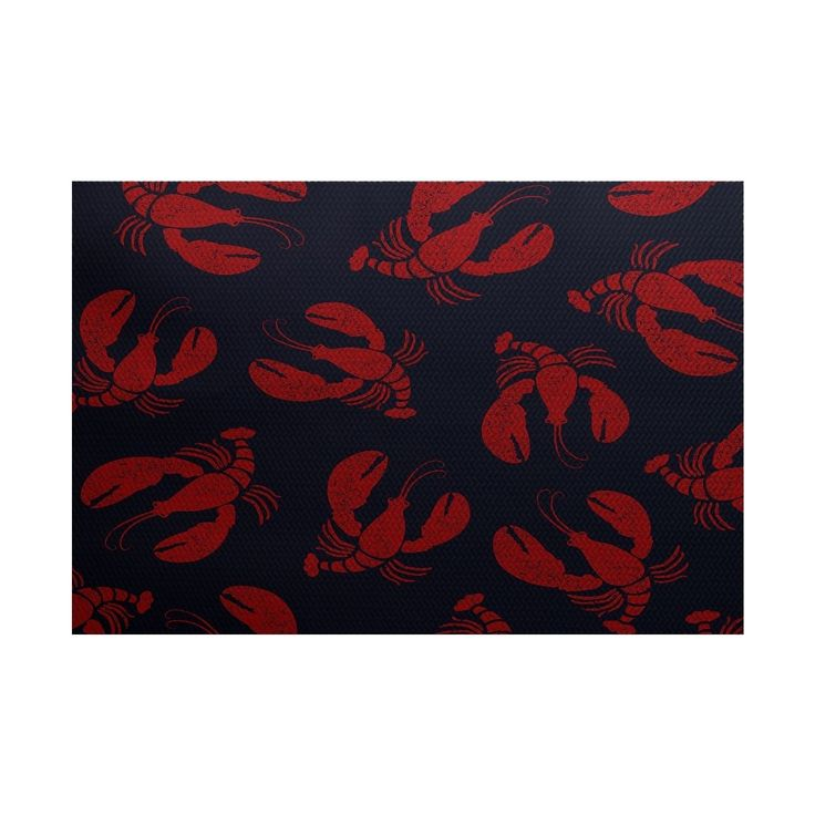 Versatile to fit any room, this Lobster Fest Animal Print Rug will add an exciting element to your home. The colorful animal print will give your space a refreshing, new look.
