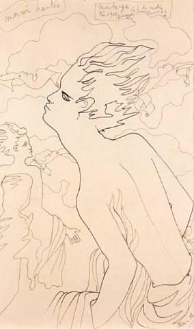 Maison hantée 1939 Jean Cocteau #art #drawing #cocteau