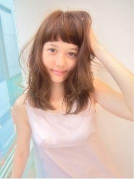 ピュア感MAX♡ミディアムヘアのパッツン前髪を集めました☆