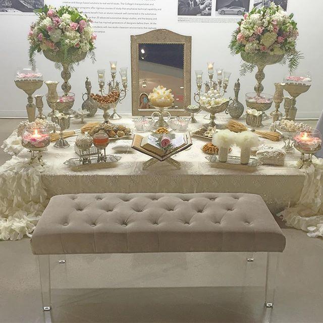 The most beautiful #sofrehaghd! #persianwedding #sofreh #livandnema2016 #destinationweddingplanner #belloandblueevents