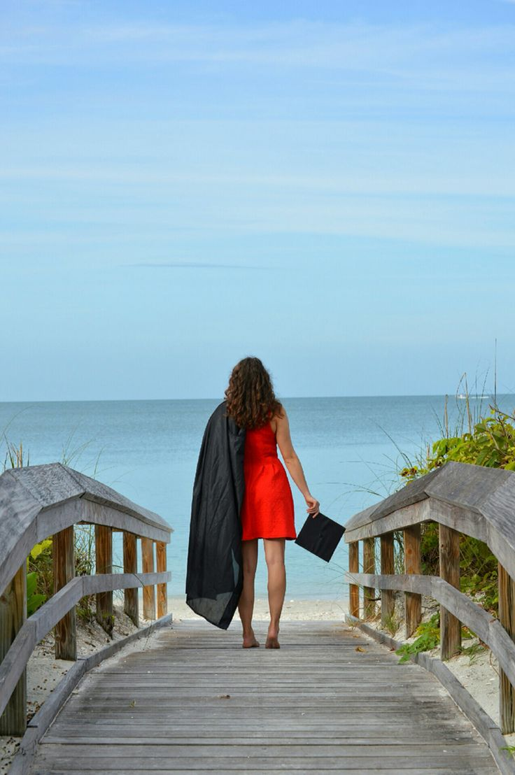 #graduation photo. Texas tech alumni!!! I took the picture at bearfoot beach in Florida